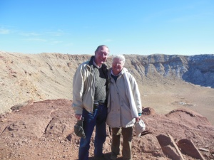 Ed and Chris at Meteor Crater