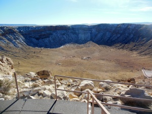 Last shot of crater