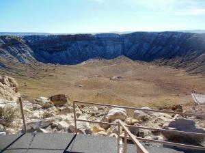 Last shot of crater