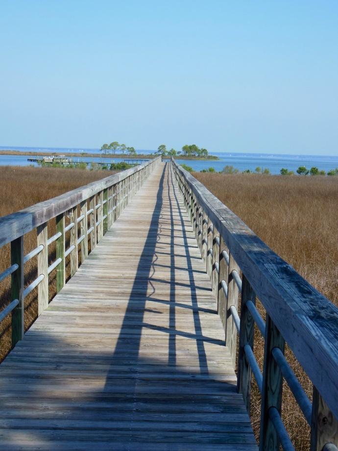 Boardwalk on the bay side