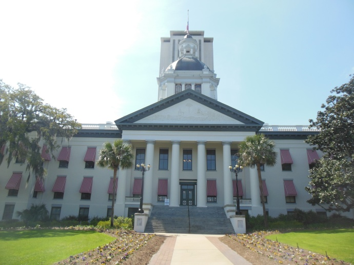 Florida Historic Capital Museum, new capitol in background