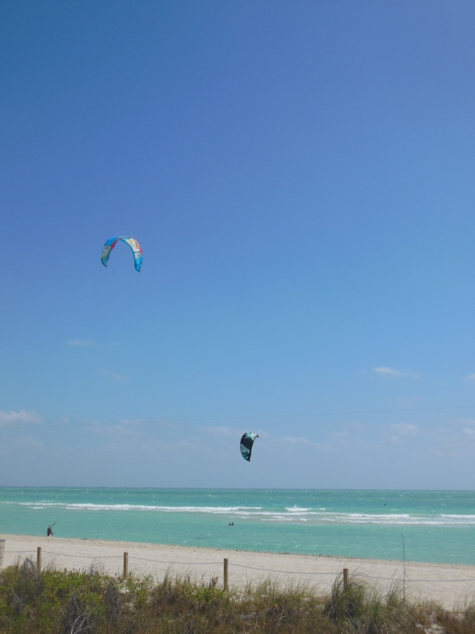 Wind-kite surfing