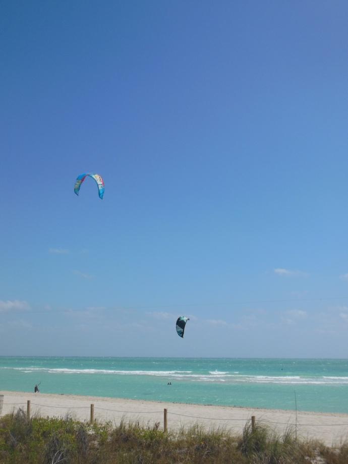 Wind-kite surfing