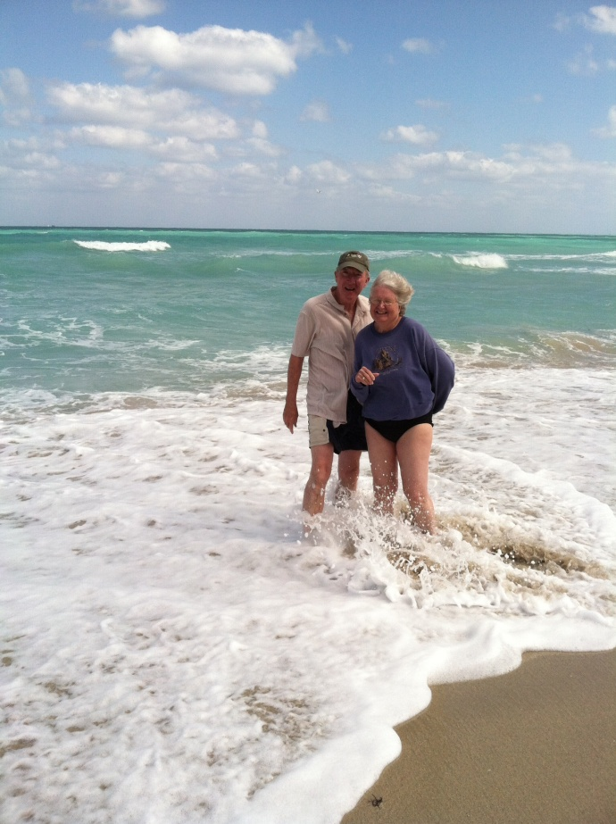 Ed and Chris at the beach