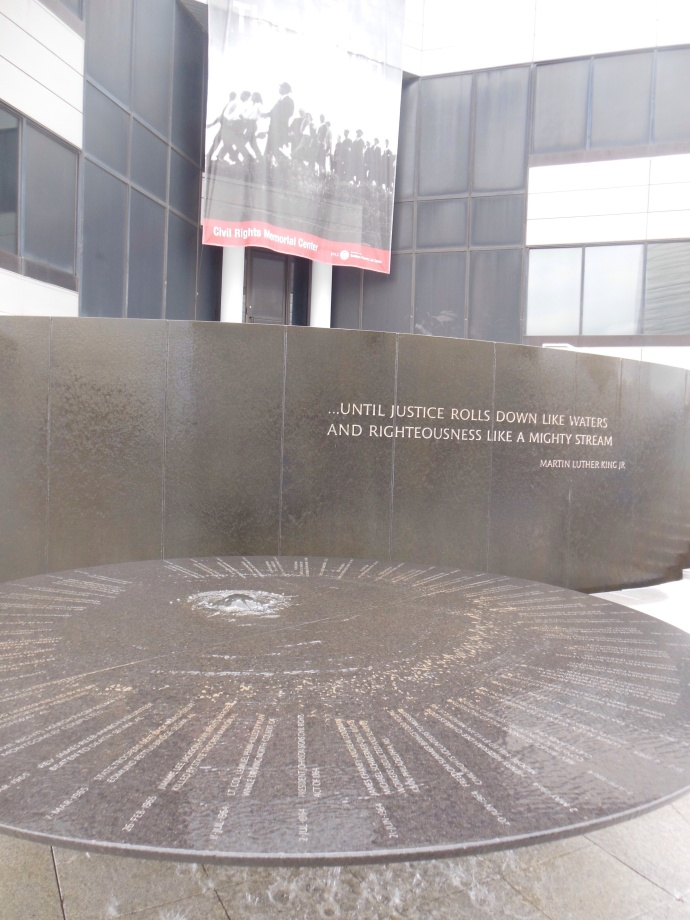 Exterior of Civil Rights Memorial