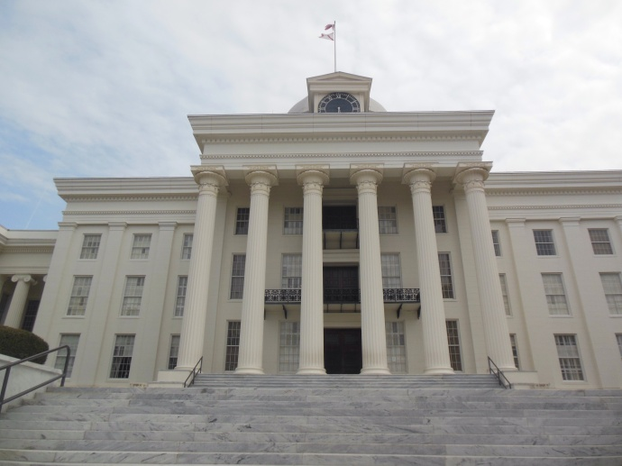 One view of the Alabama state capitol
