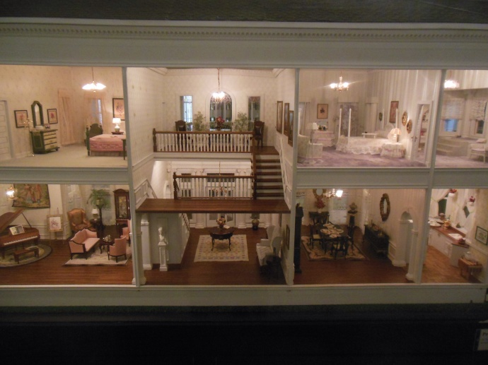 View of interior of miniature house