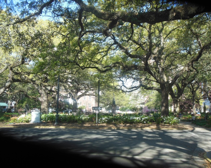 One of the squares in Savannah