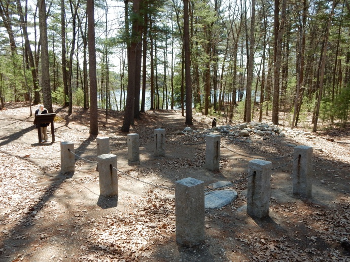 View of Walden Pond from Thoreau's cabin site