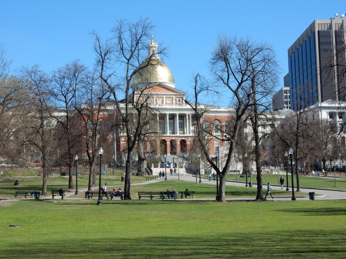 MA State Capitol from Boston Commons