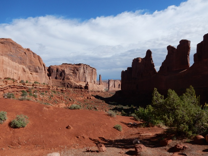 Park Avenue area of Arches