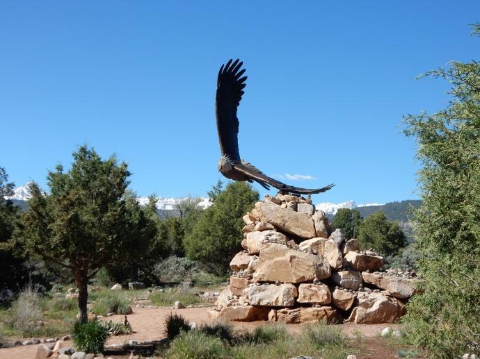 Eagle statue at Weaver park