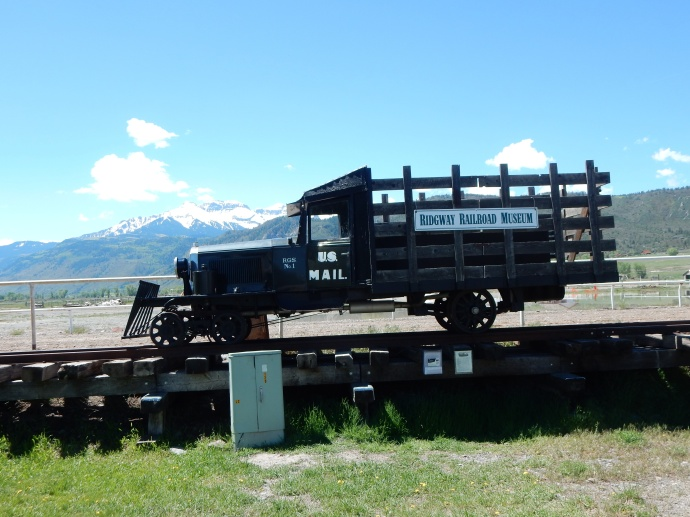 a Galloping Goose at Ridgway Railroad Museum