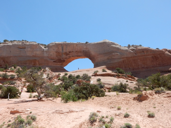 Winslow Arch along the drive to Moab