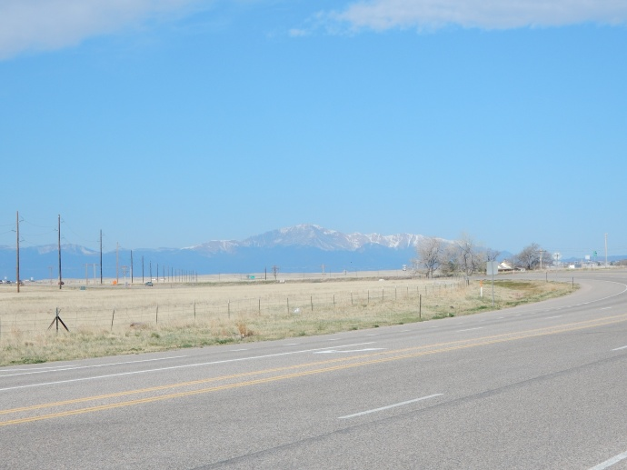 Pike's Peak viewed from west of Limon CO