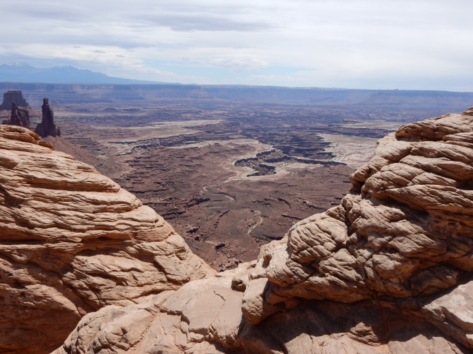 View from Mesa Arch in  Canyonlands NP