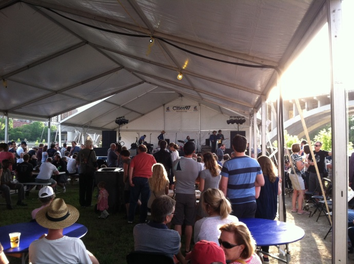 Music tent at Stone Arch festival