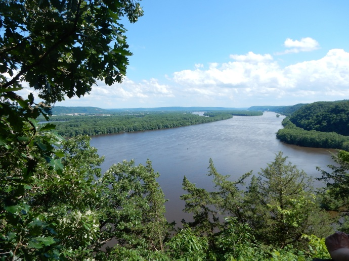 View of the Mississippi looking south from Effigy Mounds  National  Monument in IA