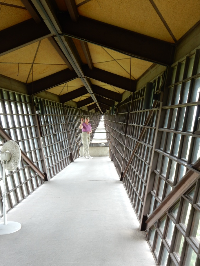 Inside the Infinity Room-the cantilevered room
