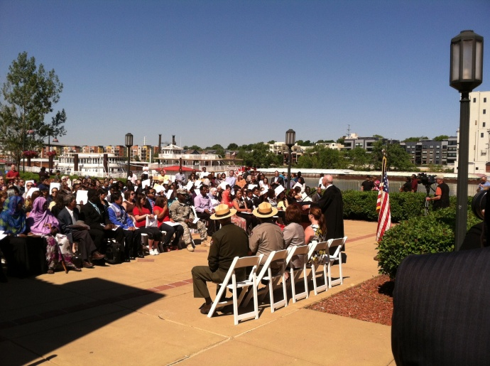 The Naturalization Ceremony on Harriet Island in St. Paul