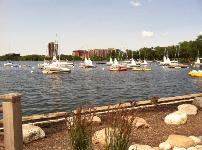 Lunch at Lake Calhoun Minneapolis