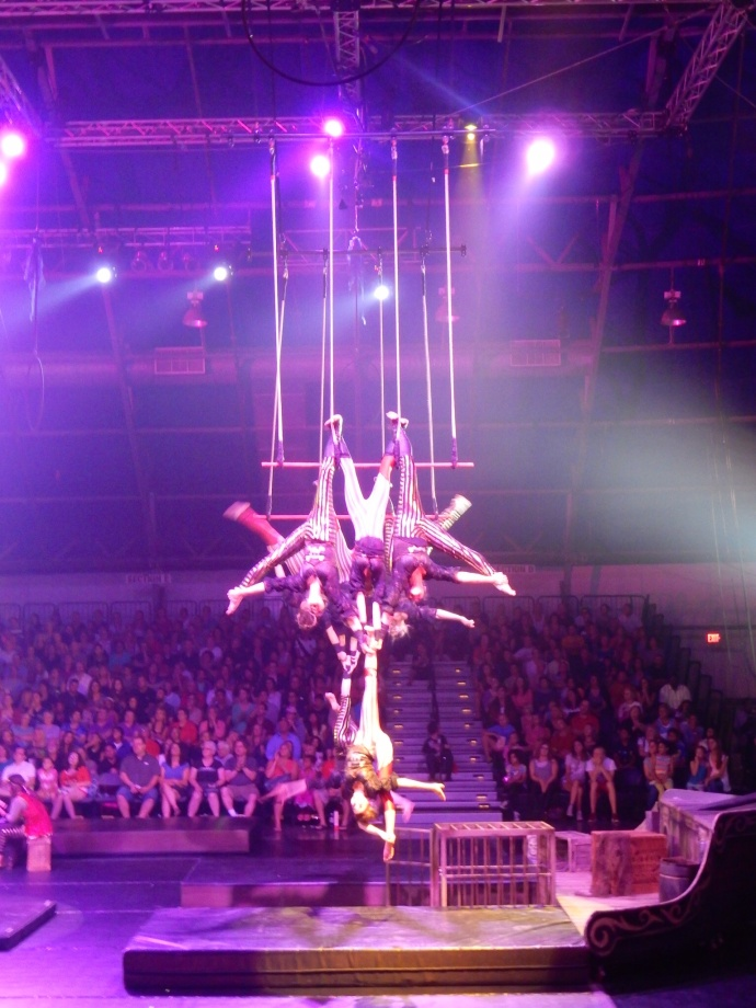 one of the trapeze acts