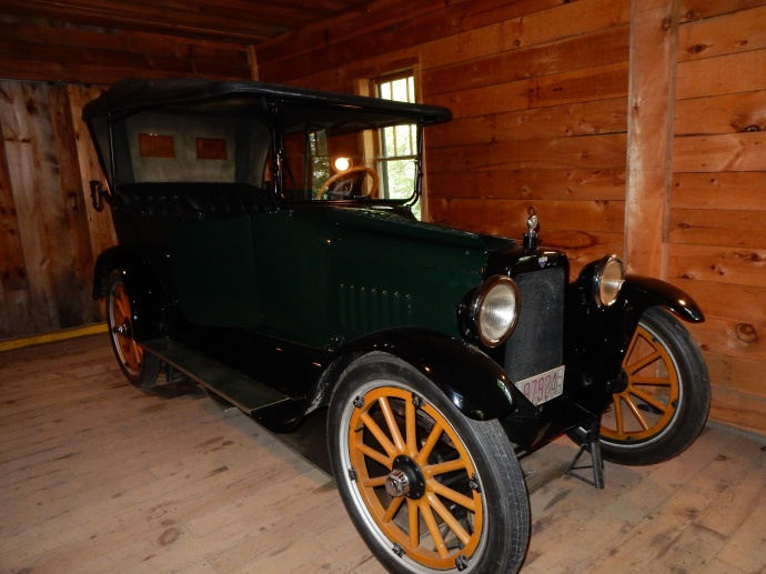 The restored car that the Lindberghs  took over the mountains to CA in 1916