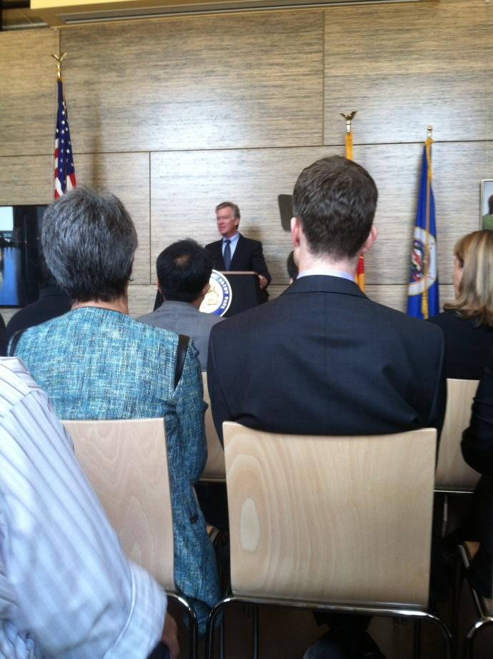 Mayor Coleman making his budget presentation