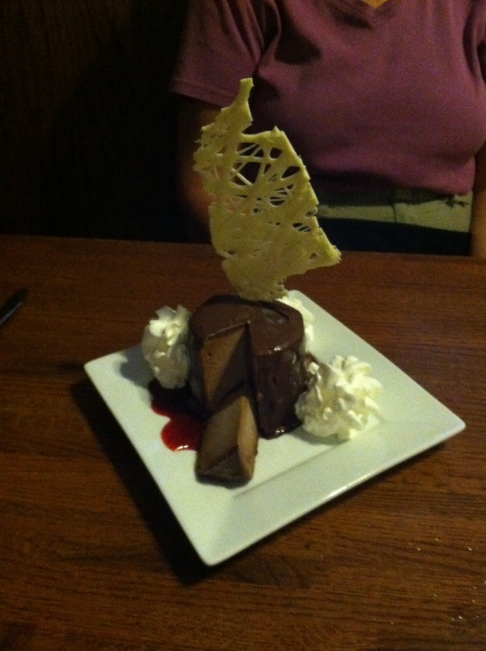 Chocolate mousse at A.T. The Black and White cafe