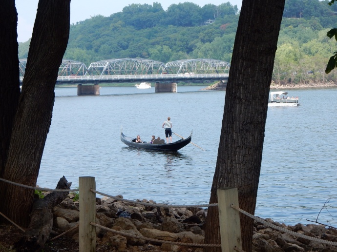 Gondolier on the St. Croix RIver