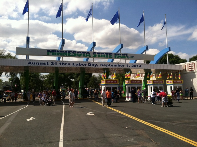 Snelling Avenue entrance to the fair