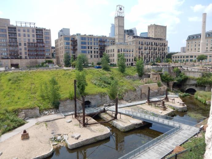 Mill City ruins area of Minneapolis