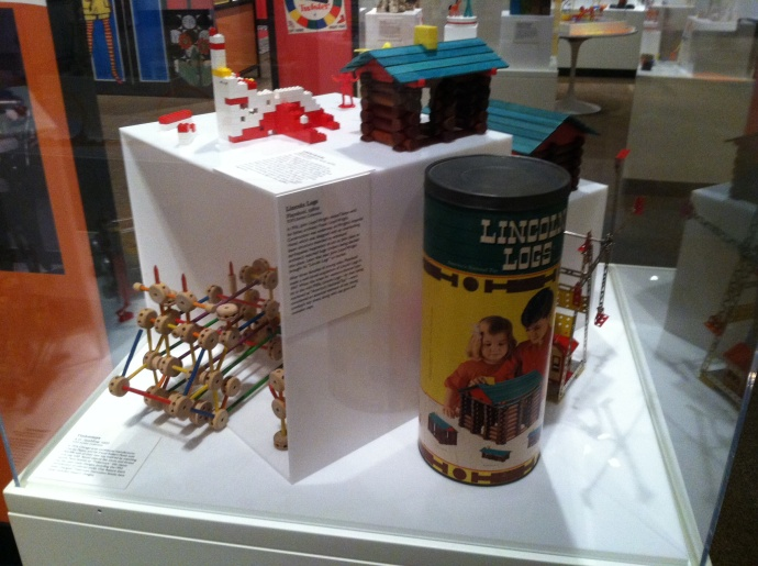 "Lincoln Logs from exhibit ""Toys of the 50s, 60s, and 70s"""