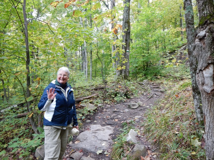 On the Ruisseaux trail