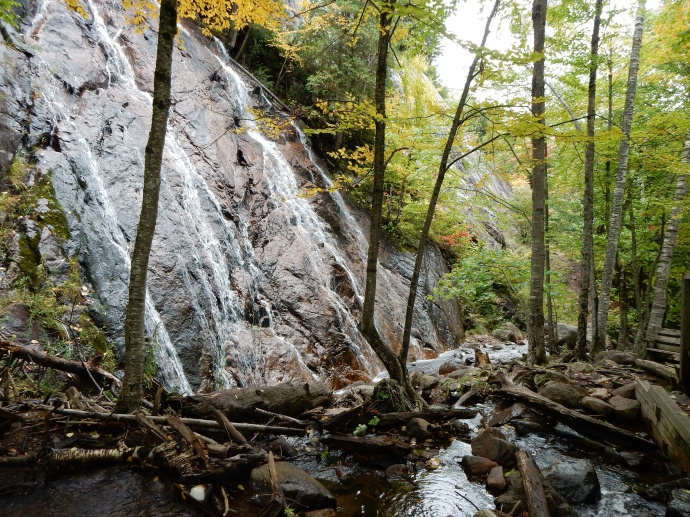 Waterfall at end of Ruisseaux trail