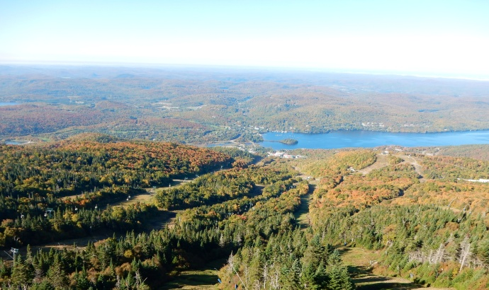 View from top of Mont Tremblant mountain