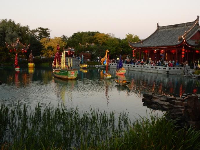 Chinese Garden at dusk