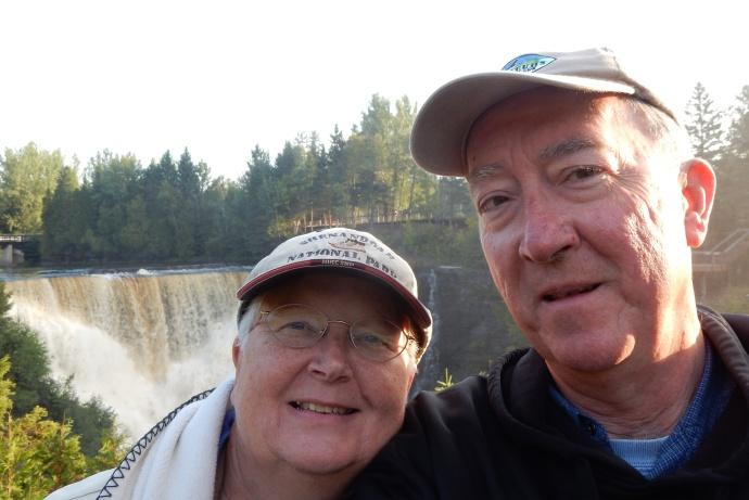 Chris and Ed at Kakebeka Falls