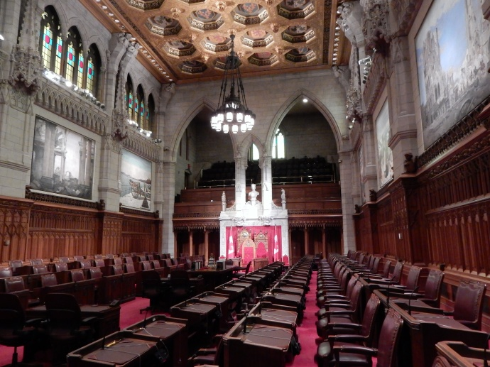 Canadian Senate chambers