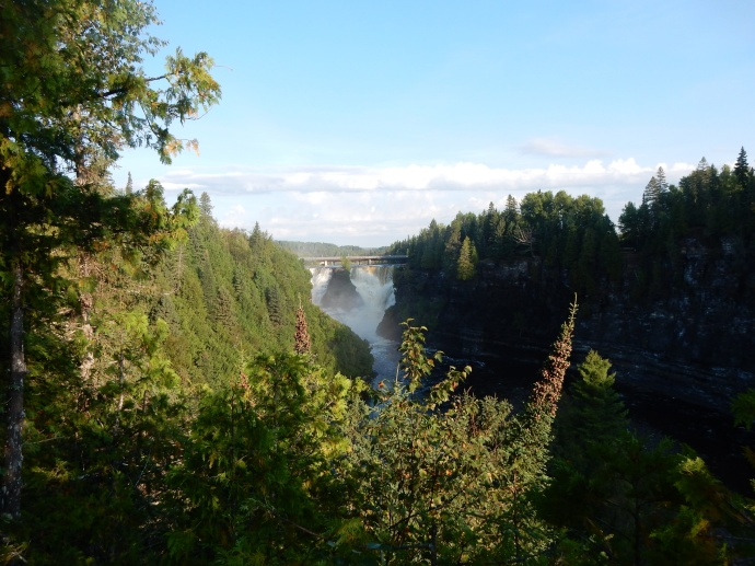 Kakabeka Falls from the downstream river view