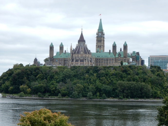 Parliament Hill viewed from Gatineau, Quebec
