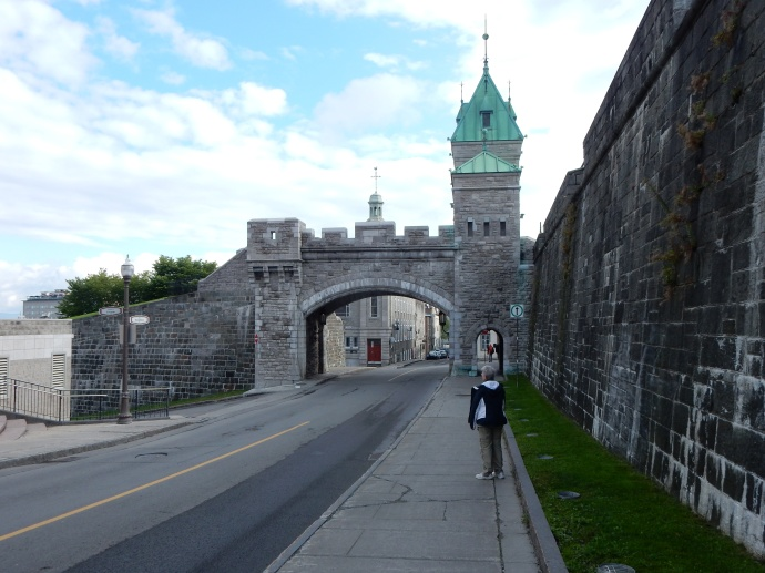 Kent Gate, one of three gates into Old Quebec