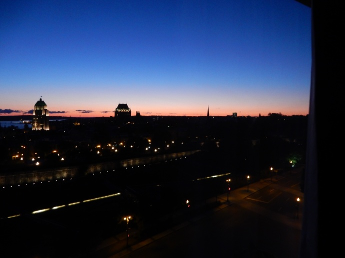 Sunrise comes to Quebec City