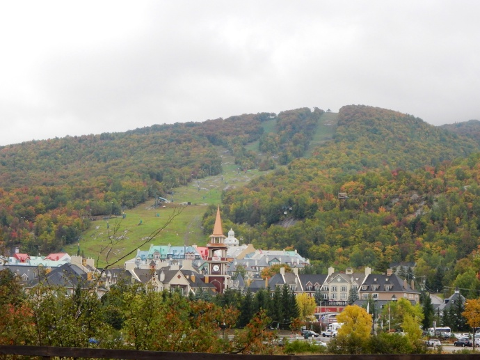 Mont-tremblant mountain and village from our unit