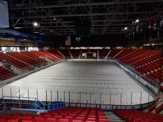 arena of 1980 Olympics hockey game