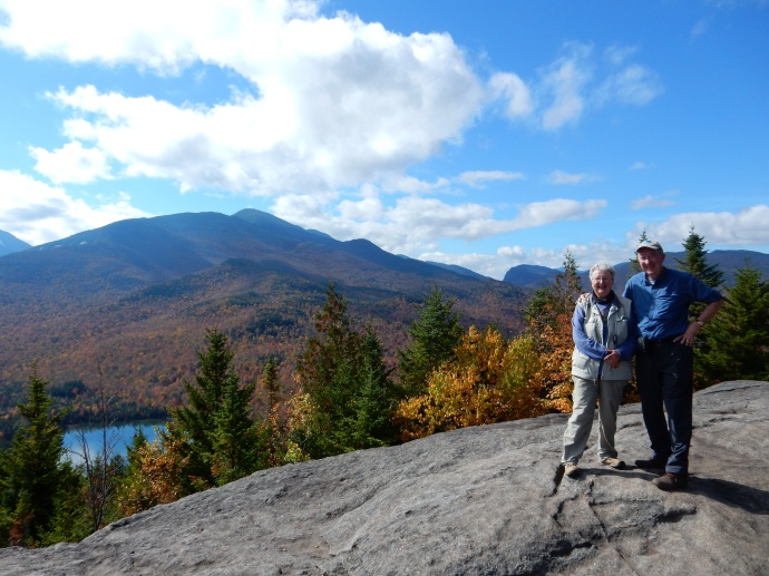 On top of Mt. Jo in the Adirondacks