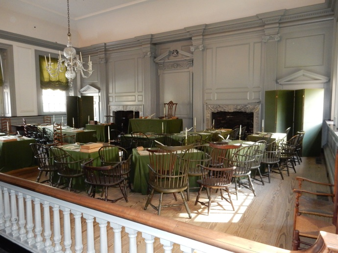 The room where the founders debated and signed the Declaration of Independence and Constitution