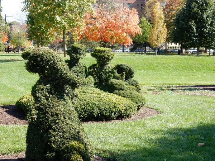 Topiary garden in Columbus Ohio