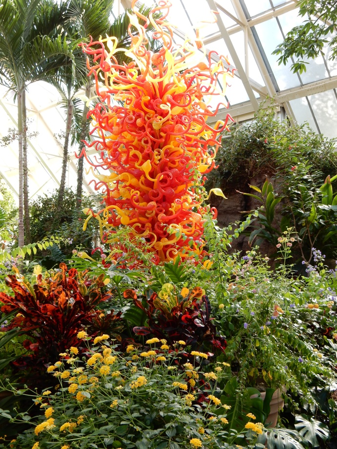 Chihuly glass sculpture at Franklin Park Conservatory in  Columbus OH