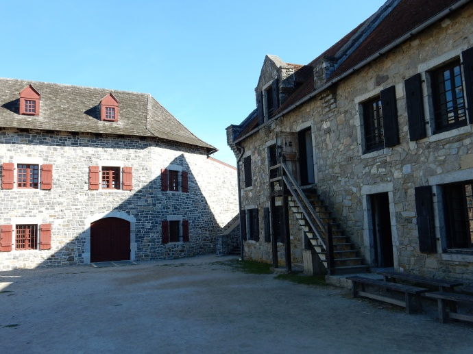 Reconstructed buildings at Fort Ticonderoga